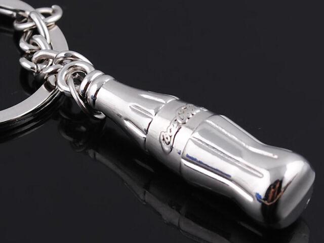 HJ057 Bottle Keyring Metal Chain Classic 3D Pendant Key Bag Chain Creative Gift