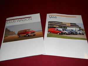 1993 ford econoline  u0026 aerostar van brochure 93 club 1978 ford pickup wiring diagram