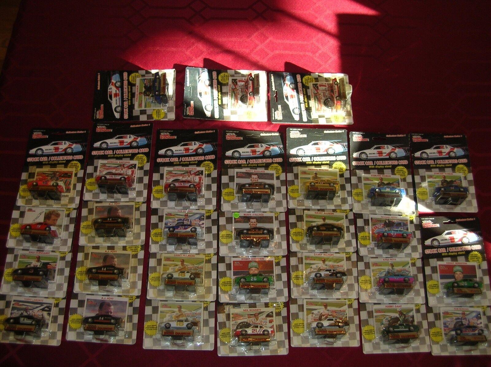 30 Diecast NASCAR Series1 plastic tire Earnhardt Petty Bonnett Elliott Wallace