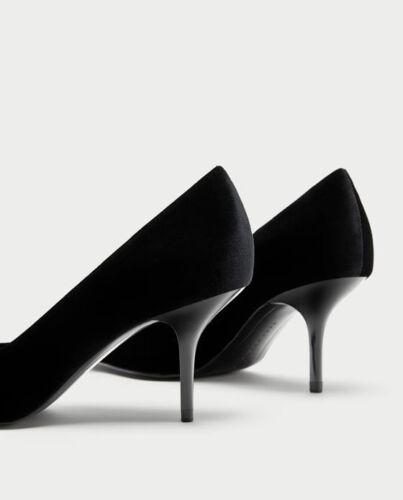 À Escarpins 5 Et Taille Woman Rrh4df Talons Moyens Nœuds 7 Zara Nwt 54c3jLqAR