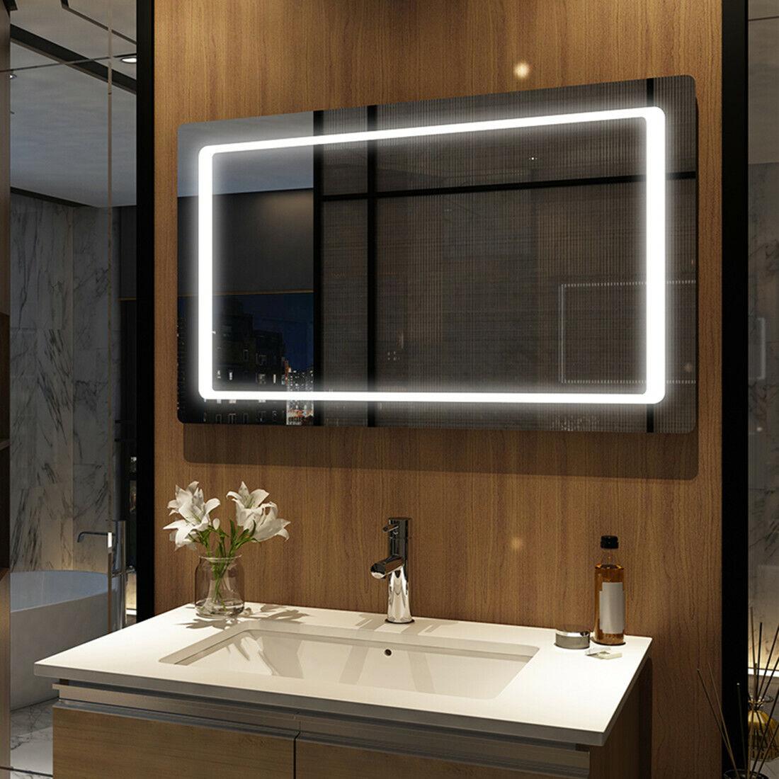 Badezimmerspiegel LED Badspiegel Lichtspiegel Wandspiegel Mit Sensor 100x60 cm
