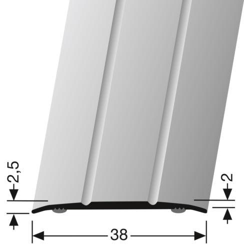 Übergangsprofil 438 mit Zierrille Küberit für Laminat Parkett Vinylboden Teppich