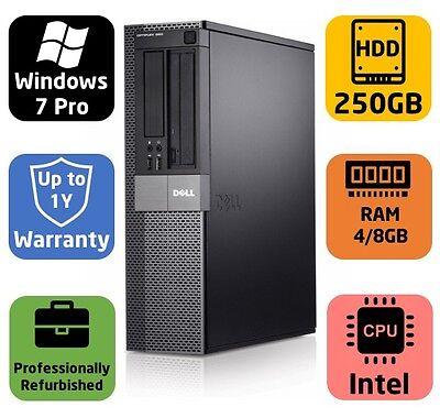 Dell Optiplex 960 DT, Intel 3.16GHz Dual Core, 4/8GB, 250GB, Windows 7 Pro, Warr