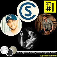 Cole Swindell Set Of 4 Buttons Or Magnets Or Mirrors Badges Pinback Pin 1549