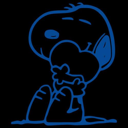"5/"" SNOOPY LOVE HUG Vinyl Decal Sticker Car Window Laptop Peanuts Heart"