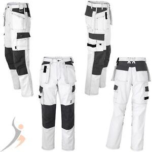 pantalons de travail peintre texxor bermuda pantalon de ma on blanc ebay. Black Bedroom Furniture Sets. Home Design Ideas