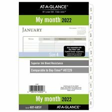 At A Glance 2022 Monthly Planner Refill Loose Leaf Desk Size 5 12 X 8 12