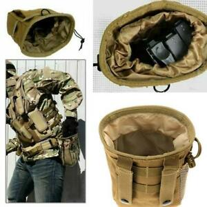 Tactical Magazine Utility Drop Dump Pouch Molle Military Heavy Ammo Bag X1M5