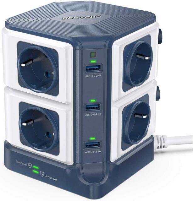 En acier brossé double commuté 13 A prise de courant avec USB électrique CBS22U3G