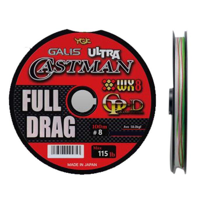 YGK GALIS ULTRA CASTMAN WX8GP-D FULL DRAG 100m (12 Linking)  115lb m  online discount