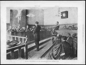 1898-Antique-Print-FRANCE-PARIS-Court-Martial-Major-Esterhazy-Military-07