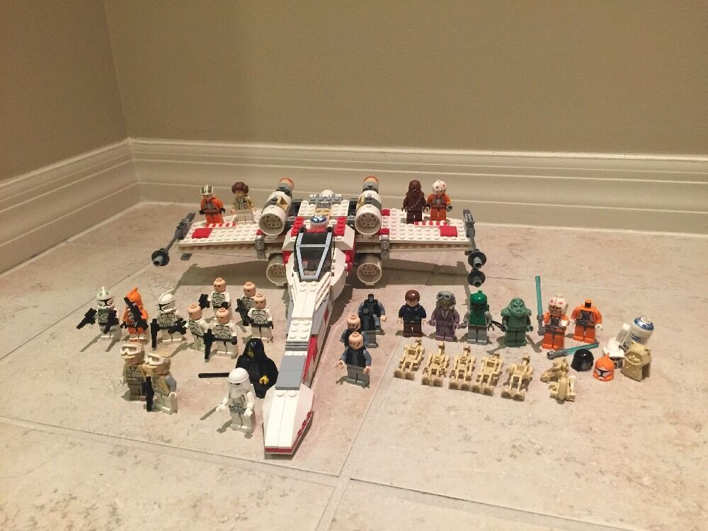 LEGO Star Wars X-Wing  Fighter 6212 30+ Minifigures Boba Fett Hoth Rebel Troopers  pas cher