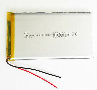 10000mAh LiPo polymer rechargeable Battery 3.7V For Power Bank Tablet PC PAD PDA