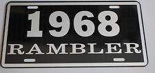 METAL LICENSE PLATE 1968 68 RAMBLER NASH AMC AMERICAN MOTORS 660 440