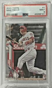2020 Topps #1 Mike Trout PSA Mint 9 Anaheim Angels
