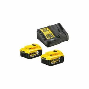 Pack 2 batteries Dewalt 18V XR 5AH LI-ION et chargeur Dewalt 18V DCB115P2-QW