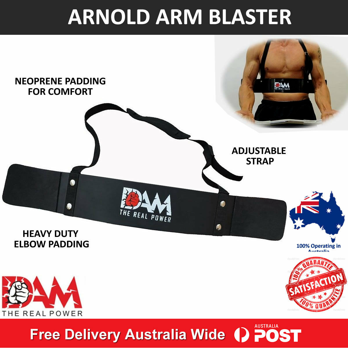 Arm Blaster Bicep Curl Bar Weight Lifting Bodybuilding Arms Ez Fitness Arnold Tr