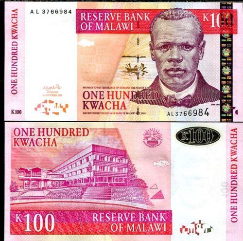 MALAWI 100 KWACHA 2001 P 46 UNC