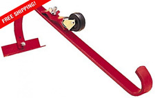 Qualcraft 2481 Ladder Hook With Wheel Durable Steel Roof Top Ridge Acro Ladders