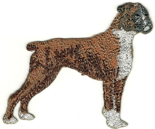"3 1//2/"" Standing Brown Boxer Full Body Embroidery Patch"