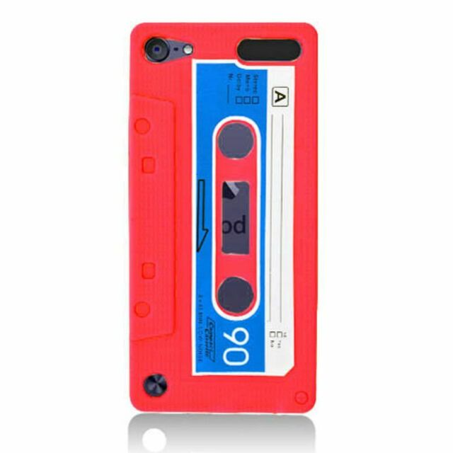 APPLE iPod Touch 5 SOFT SILICONE SKIN RUBBER GEL COVER CASE ACCESSORY RED