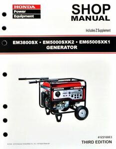 honda em3800 em5000 em6500 generator service repair shop manual ebay rh ebay com honda generator shop manual honda generator eu1000i shop manual