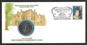 1980 Queen Mother 80th Birthday crown coin philatelic numismatic first day cover