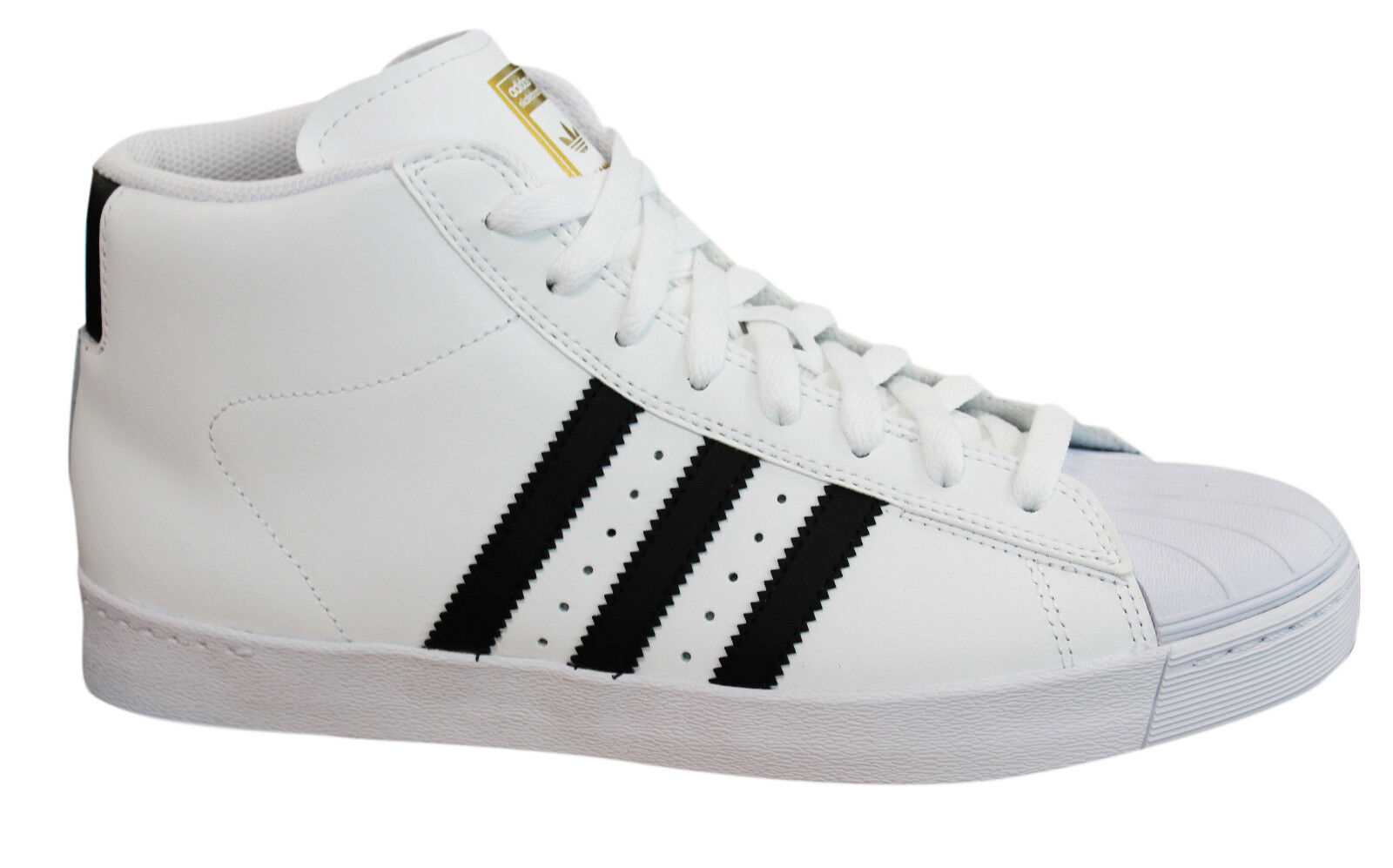 Adidas Originals Pro Model Vulc Advance Mens Hi Top Trainers White BY4095 M17