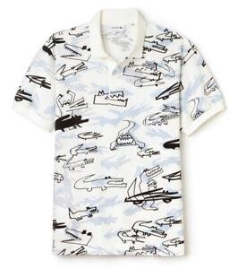 aa11d958 Lacoste Runway Oversized Croc Graffiti print polo t-shirt Sizes 7,6 ...