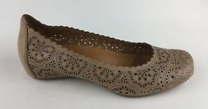 Details about Earthies Bindi Womens Beige Biscuit Leather Loafers Ballet Flats Sz US 7