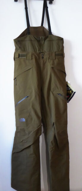 14a4e1b5b The North Face Men's FREE THINKER BIB Gore-Tex Pro Ski Pants Salopettes  Green M