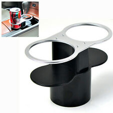 Auto Deluxe Double Wedge Between Seat Dual Water Cups Holder Coffee Drinks Stand