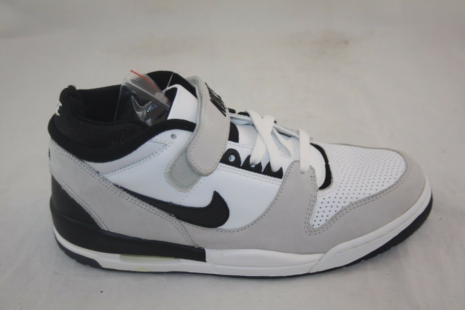 MEN'S NIKE AIR REVOLUTION MID 301173-101 WHITE BLACK-NEUTRAL GREY WAS  85.00