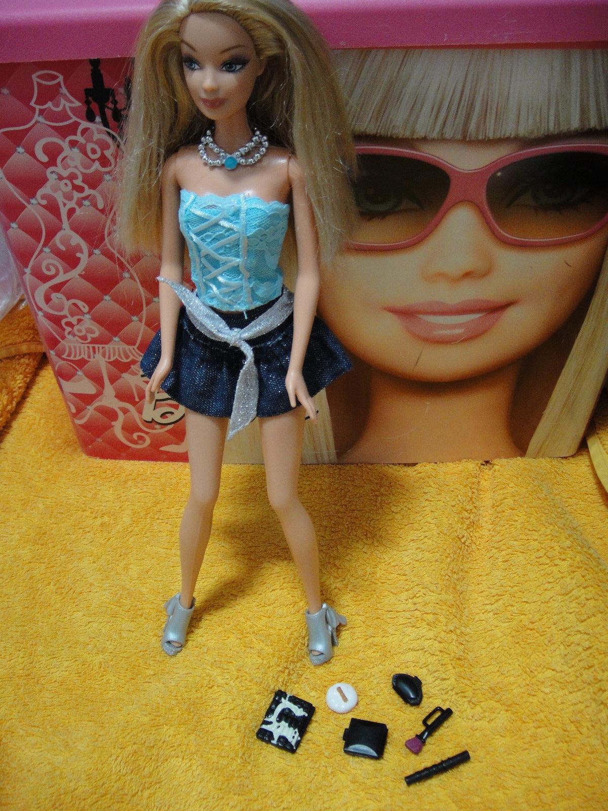 Mattel Barbie Fashion Fever Fever Fever Make Up brilliant doll Puppe in tollem 2 Teiler 9d8c29