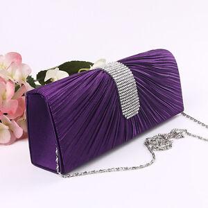 Chic-Women-Satin-Fold-Clutch-Bag-Party-Bridal-Handbag-Wedding-Evening-Prom-Purse