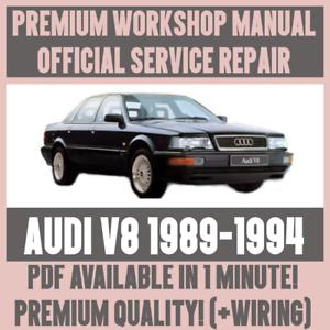 workshop manual service repair guide for audi v8 1989 1994 wiring rh ebay co uk Custom Throttle Cable Kit Vernier Throttle Cable