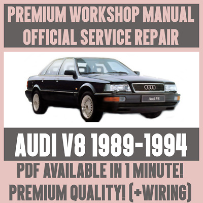 details about *workshop manual service & repair guide for audi v8 1989-1994  +wiring