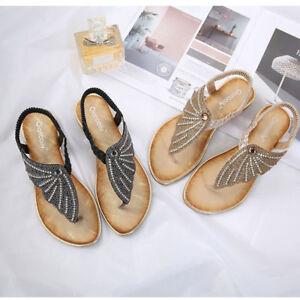 a78b5bf48ce84 Image is loading Fashion-Women-Summer-Flat-Flip-Flop-Glitter-Casual-