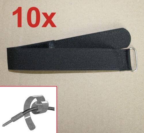 10x Klettkabelbinder 30cm x 2,5cm breit Klettband Klettbinder Kabelklett 300x25