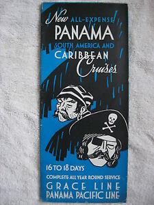 1935 PANAMA SOUTH AMERICAN & CARIBBEAN CRUISES GRACE & PANAMA PACIFIC BROCHURE