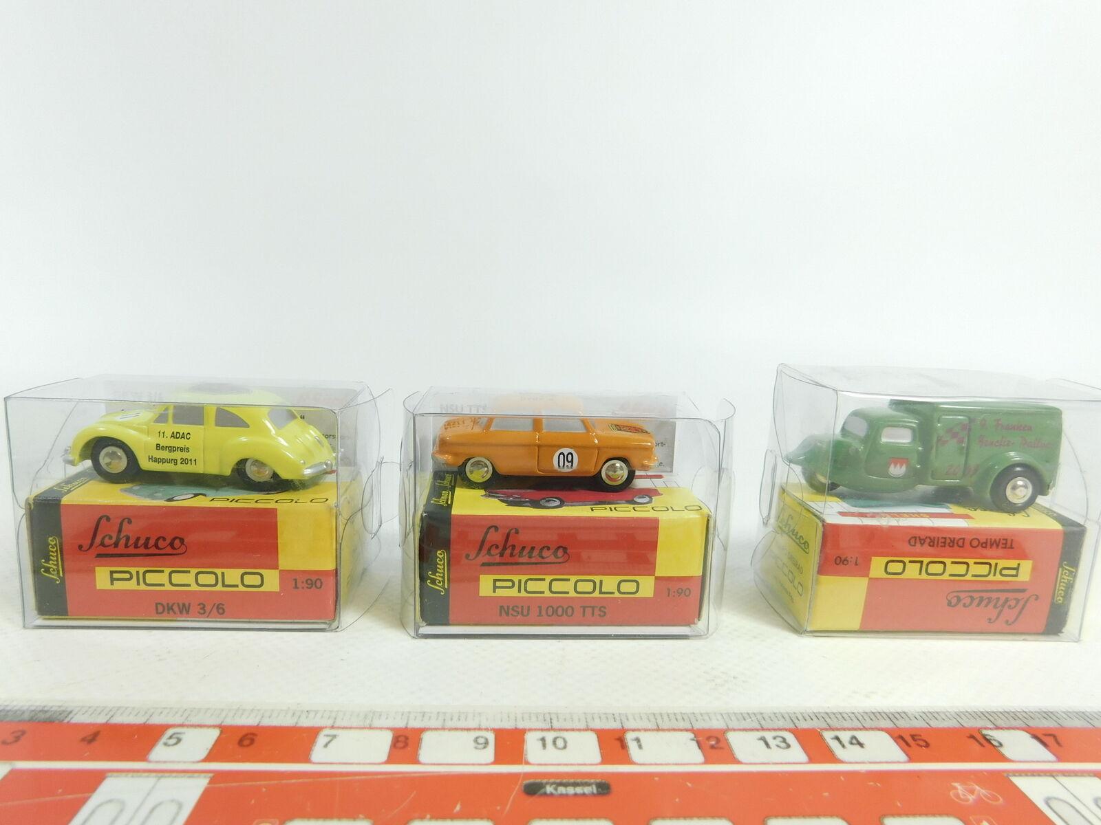 Bd275-0, 5  3x Schuco 1 90 modelo  ritmo + NSU montaña precio + DKW happurg 2011, Neuw + embalaje original