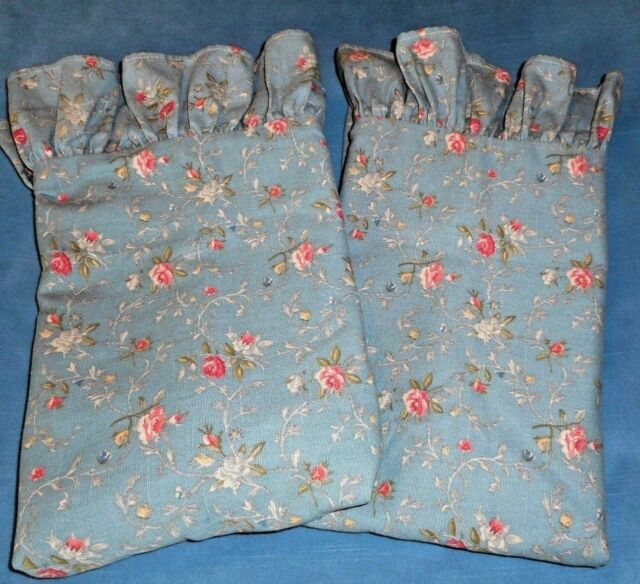 2 Rare RALPH LAUREN Glastonbury Floral Standard Ruffled Shams Gardeners Garret