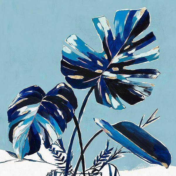 Isabelle Z  Villa Palms I Keilrahmen-Bild Leinwand Blätter Palmen Tropen modern