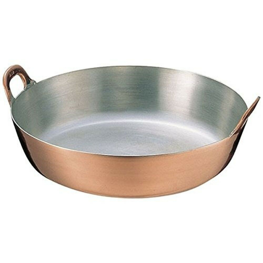 Japanese TEMPURA Copper Frying Pan Fritter Pot 30 cm