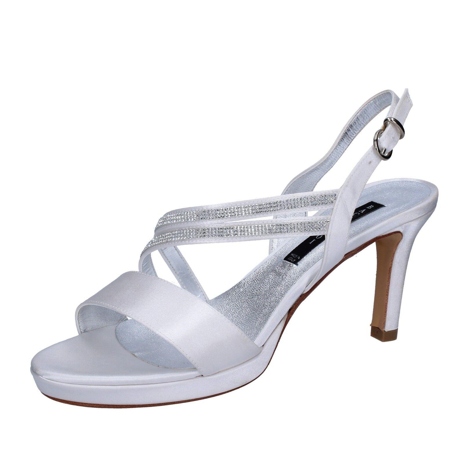 Damen schuhe BACTA DE TOI 36 EU sandalen Weiß strass satin BT845-36