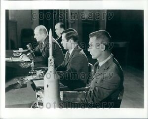 1969 Apollo 10 Astronauts at Briefing Kennedy Space Center Press Photo