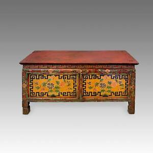 Excellent Details About Antique Monks Writing Table Painted Pine Tibet Chinese Furniture 19Th C Interior Design Ideas Ghosoteloinfo