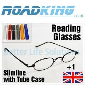 02e95b844987 Slim Reading Glasses & Tube Case | Pocket Size Mens Ladies Specs ...