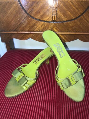 SALVERTORE FERRAGAMO  VERA BOW SLIDES SLIP ON KITT