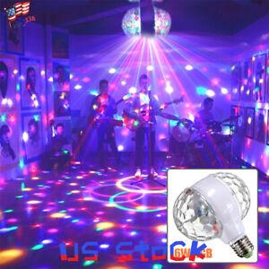Details About E27 Ac85v 265v Led Stage Lighting Lamp Rgb 2 Head Bulbs Dj Light Rotating Lamps